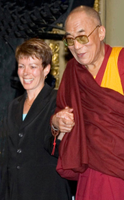 Debra Russell and His Holiness the Dali Lama